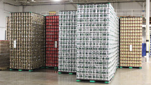 Empty beer cans ready to be filled at the Rochester Mills Production Brewery