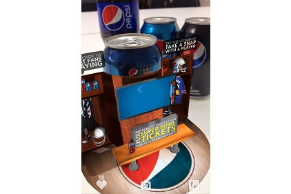 Pepsi blip display
