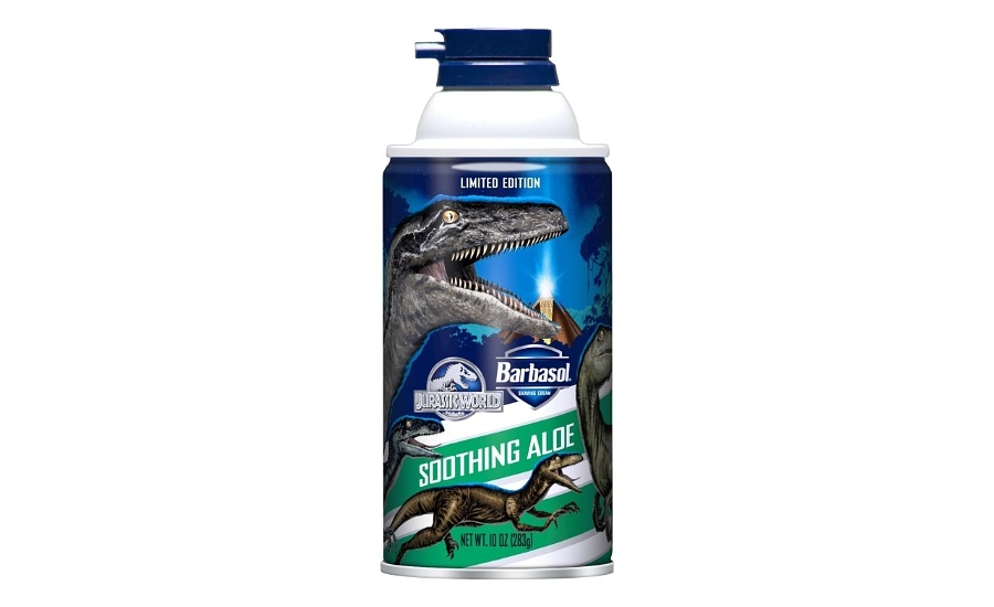 Crown joins Barbasol in commemorating new Jurassic World film
