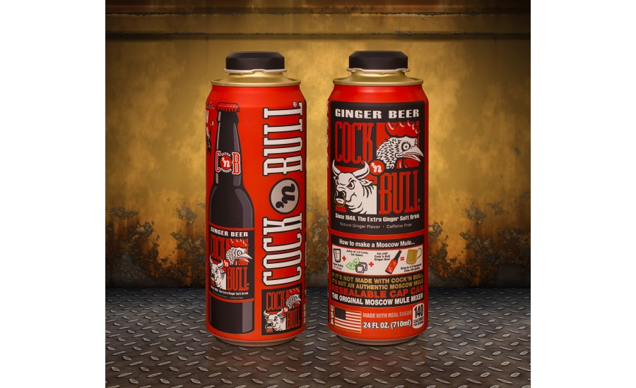 Cockâ??n Bull Ginger Beer Adds Re-Sealability to Packaging Mix with  Expansion into Rexam 24oz. Cap Can