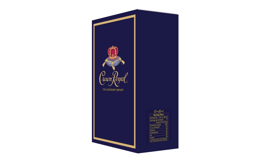 Crown Royal becomes first spirits brand to include servings fact panel on packaging