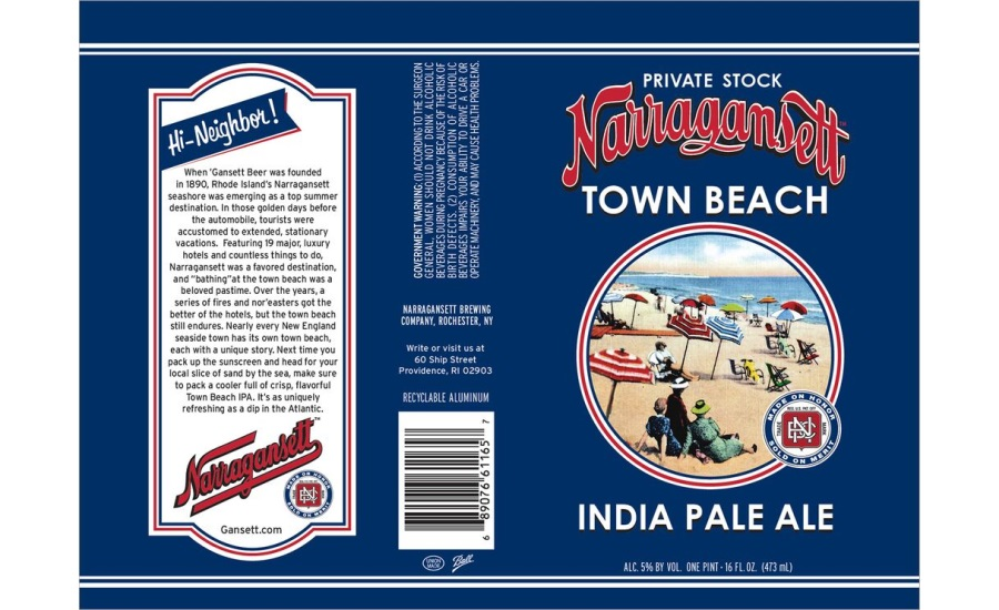 Narragansett Beer reintroduces Town Beach IPA as new sessionable release