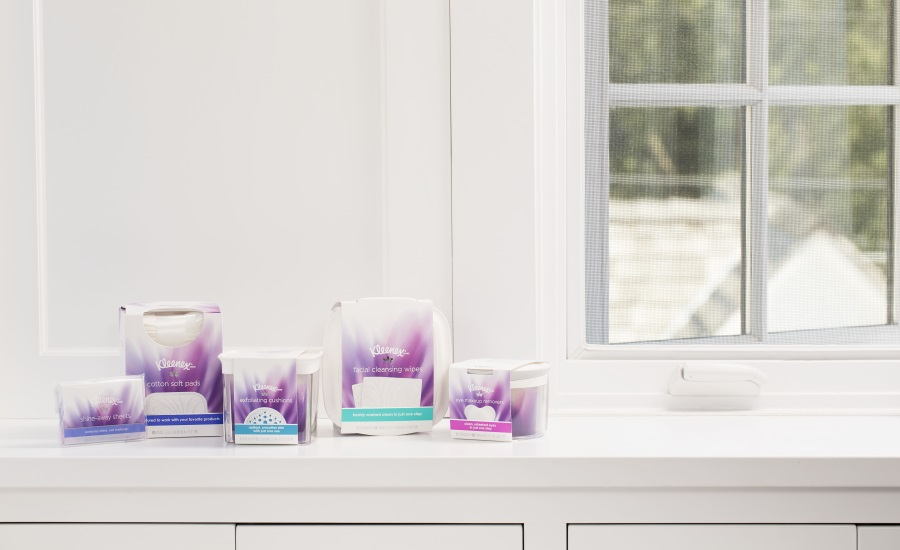 Kleenex brand introduces new facial cleansing line