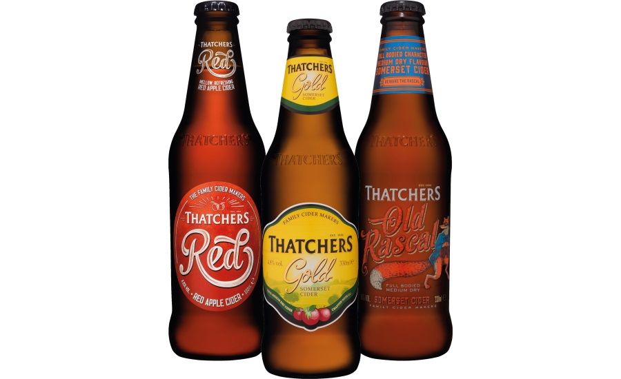 New Ardagh fridge friendly bottles for Thatchers Gold, Old Rascal and Red
