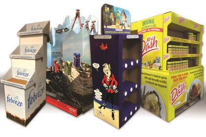 Sutherland Packaging offers high-impact direct color printing for corrugated P.O.P. displays