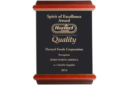 Hormel Foods recognizes Bemis with Spirit of Excellence Award