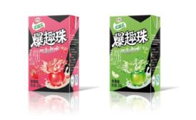 Yili Industrial Group has new yogurt drinks containing balls filled with juice