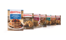 Krusteaz breaks out new packaging for pancake line, baking line