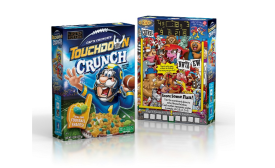 Captn Crunch new packaging with football shapes