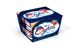 Danone Oykos Whip 'n' Mix yogurt sports new package design