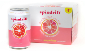 Spindrift new beverage can label