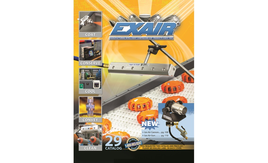EXAIR's new Catalog 29 features new CE compliant and UL Recognized Static Eliminators