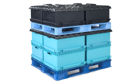 Orbis Double Stacking of Stackable, Rackable Pallet Loads