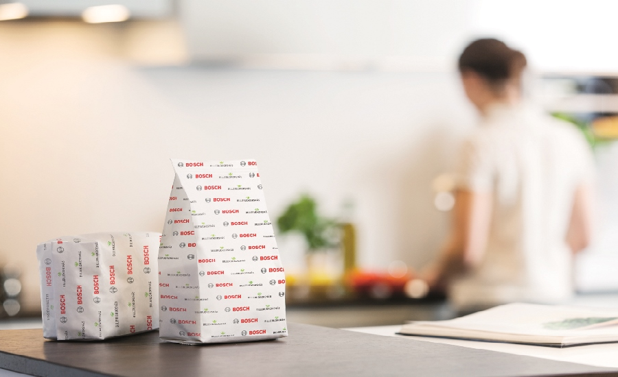 Bosch Packaging Technology and BillerudKorsnäs developed the world´s first sealed paper packaging using sustainable mono-material paper