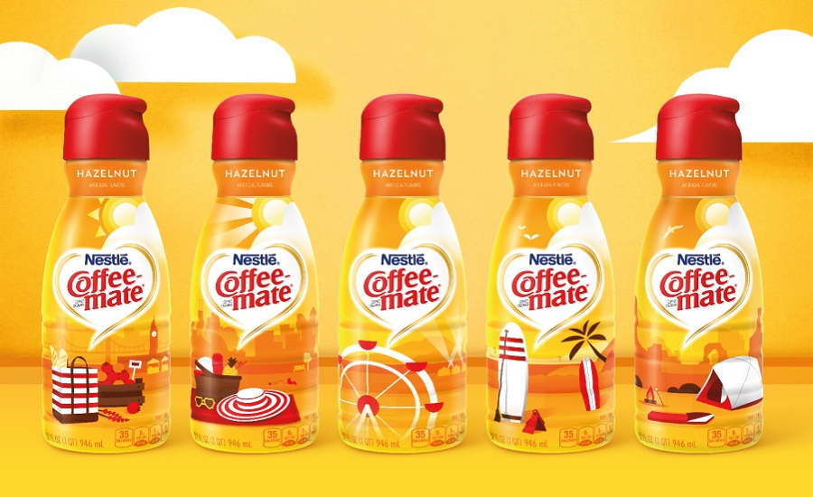 Coffee-Mate Celebrates Summer with new package design