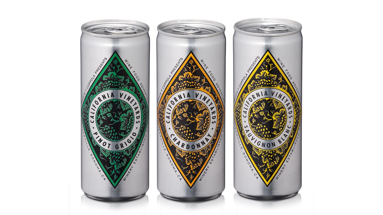 Francis Ford Coppola Winery releases premium wine in cans