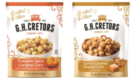 Pumpkin Spice Caramel Corn and Salted Caramel Popped Corn with Pretzels add to G.H. Cretors® line of Obsessively Delicious™ products