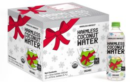 Harmless Harvest coconut water brings joy with holiday packaging
