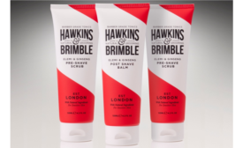 Hawkins & Brimble bring vintage barbershop look to packaging