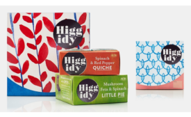 Higgidy launches quiches and pies in paperboard packaging