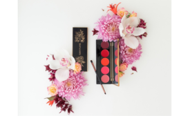 New lip palette offers color inside and floral design on pack