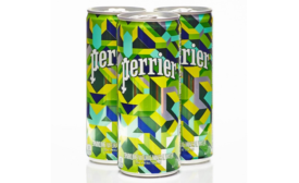 Perrier puts custom artistry in new bottle and can design