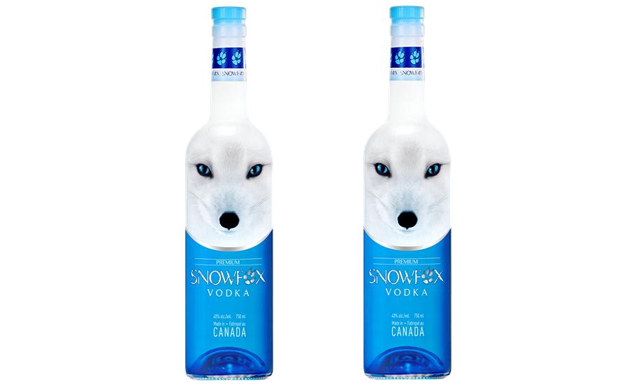 cab97985481689 Snowfox Vodka includes ice-blue gaze of iconic Canadian fox on label ...