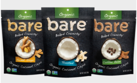 Bare Snacks launches organic coconut chips in 3 flavors