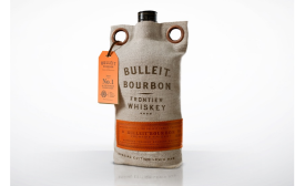 Bulleit Whiskey's new burlap packaging bag