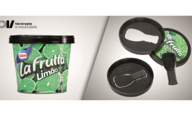 Froneri ice cream touts new spoon-in-lid closure