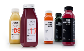 Juice Served Here new PET bottles by Berlin Packaging