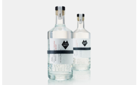New Lone Wolf vodka and gin bottle package design
