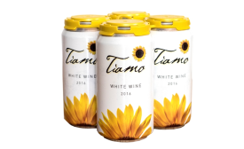 Tiamo organic wine gets packaged in aluminum cans