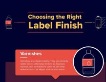 Choosing the right label finish infographic
