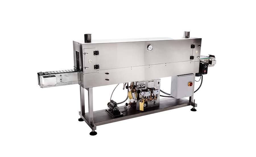 All-in-one steam tunnel perfect addition shrink labeling lines