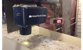 Non-contact online moisture sensor provides real-time measurements