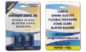 Overnight Labels offers blister card backing