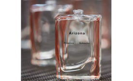 Debut Fragrance Arizona Uses Assymetric Glass Design