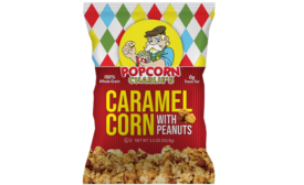 Caramel Corn Packaging Pops on Shelf