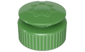Dish Soap Cap Made of 100 Percent Post-Consumer-Recycled Materials