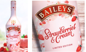 Baileys Strawberries and Cream Liqueur Uses Strawberries, Flowers for Spring Design