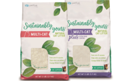 Cat Litter Packaging Shows off White Litter and Green Mission