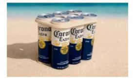 Corona Testing Plastic-Free Six-Pack Ring