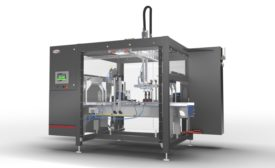 Compact Top Load Case Packer Designed for Rigid Containers