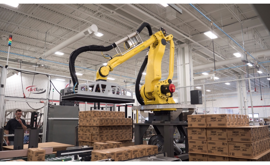 Delkor Unveils New Robotic Palletizer 2018 04 03