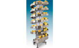 Compact Vertical Spiral Conveyors Tackle Small Loads