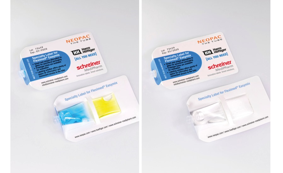 Label for Two-Chamber Pharmaceutical Tube Offers
