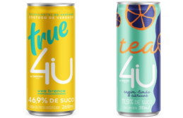 4U Carbonated Juices and Teas Show Up in Sleek Beverage Cans