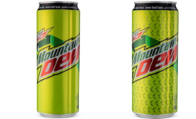 Mountain Dew Cans Shine Bright in New Color