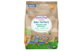 Organic Baby Food Teethers Available in Resealable Packaging